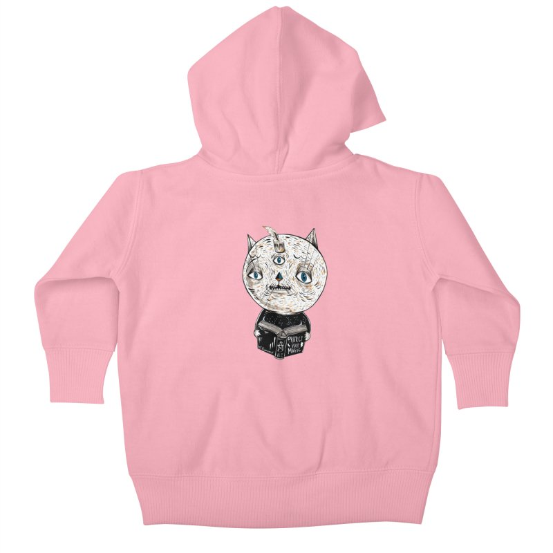 Magician cat Kids Baby Zip-Up Hoody by Valentina Zummo