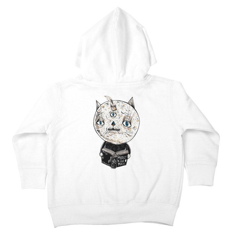 Magician cat Kids Toddler Zip-Up Hoody by Valentina Zummo