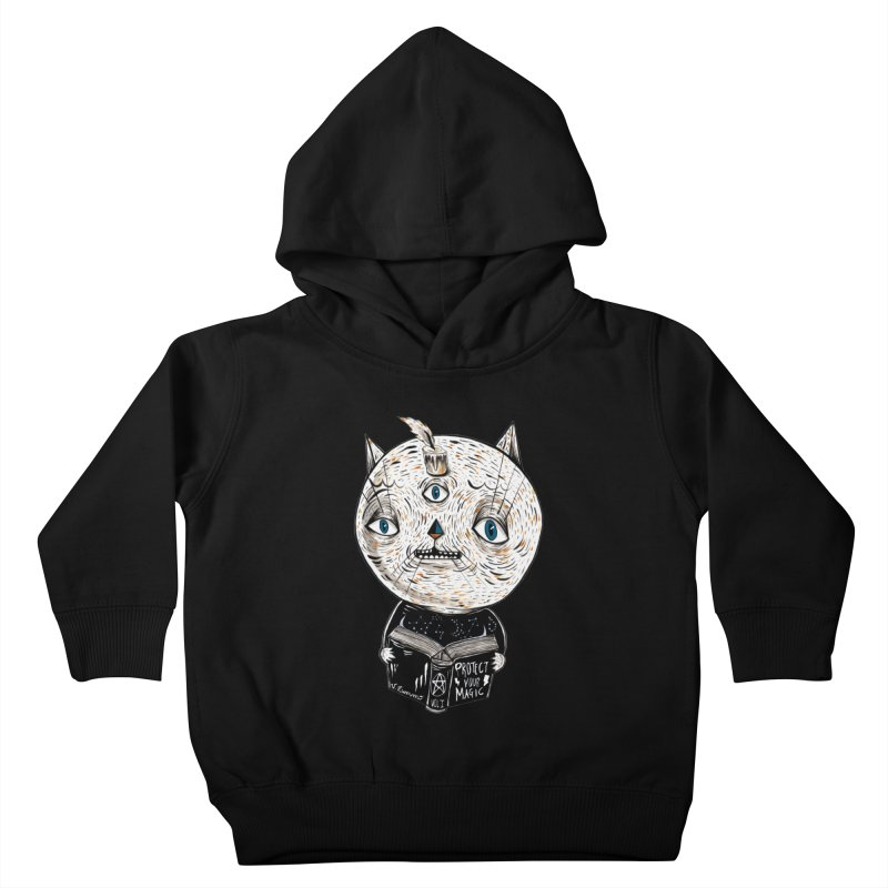 Magician cat Kids Toddler Pullover Hoody by Valentina Zummo