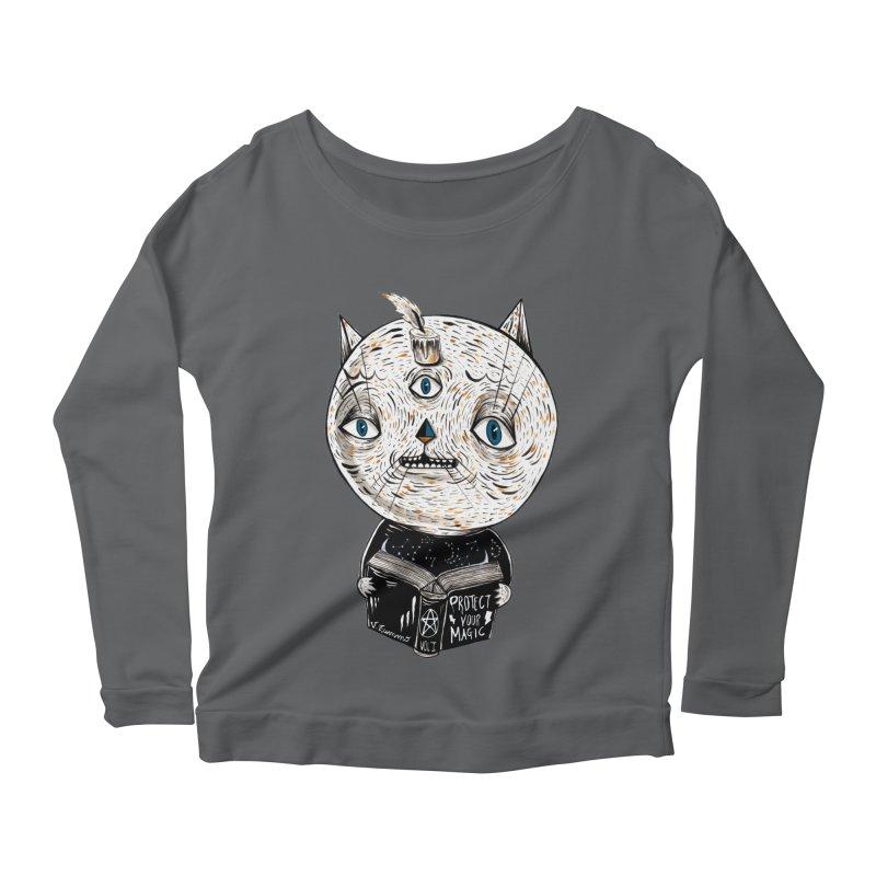 Magician cat Women's Longsleeve T-Shirt by Valentina Zummo