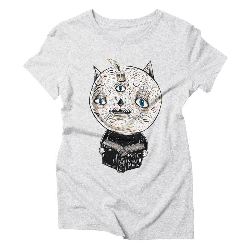 Magician cat Women's Triblend T-Shirt by Valentina Zummo