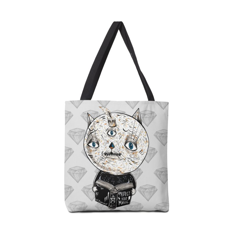 Magician cat Accessories Tote Bag Bag by Valentina Zummo
