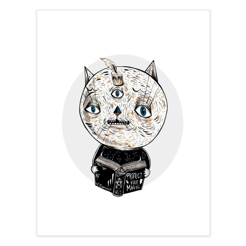 Magician cat Home Fine Art Print by Valentina Zummo