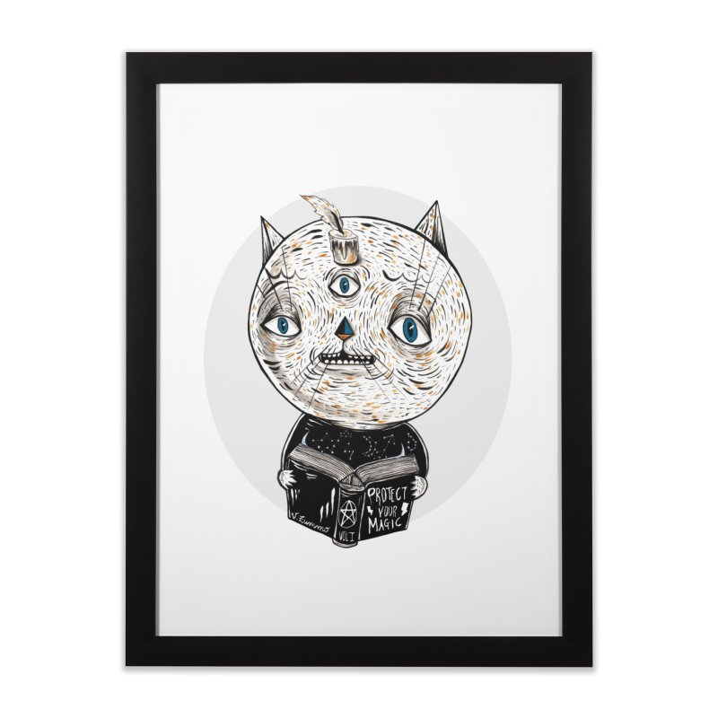 Magician cat Home Framed Fine Art Print by Valentina Zummo