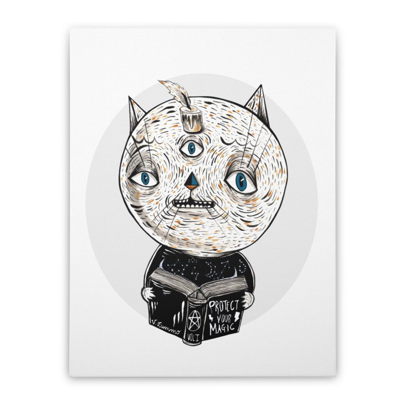 Magician cat Home Stretched Canvas by Valentina Zummo