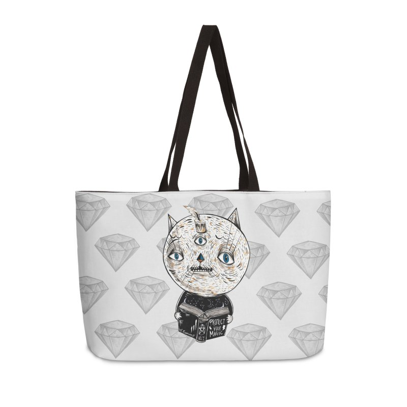 Magician cat Accessories Weekender Bag Bag by Valentina Zummo
