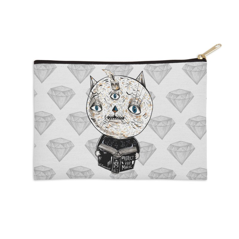Magician cat Accessories Zip Pouch by Valentina Zummo