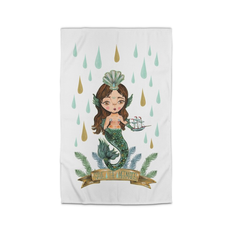 Save the Mermaid Home Rug by Valentina Zummo