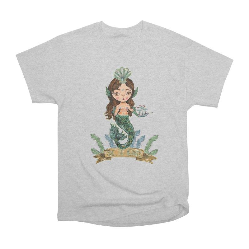 Save the Mermaid Men's Heavyweight T-Shirt by Valentina Zummo