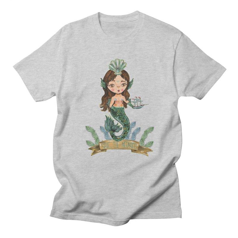 Save the Mermaid Men's Regular T-Shirt by Valentina Zummo