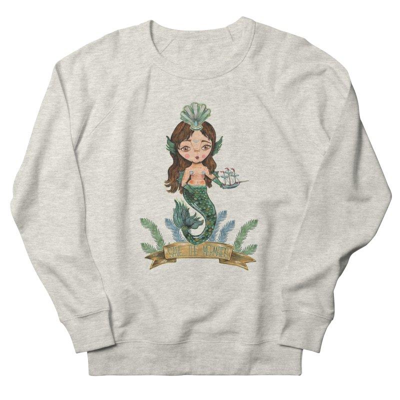 Save the Mermaid Women's French Terry Sweatshirt by Valentina Zummo