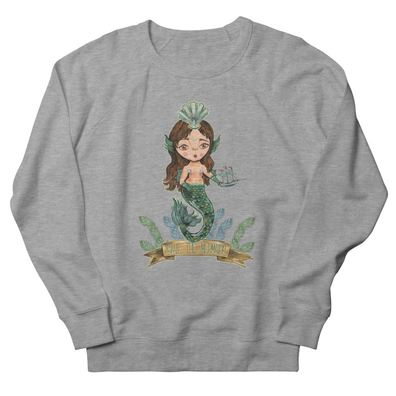 Save the Mermaid Men's French Terry Sweatshirt by Valentina Zummo