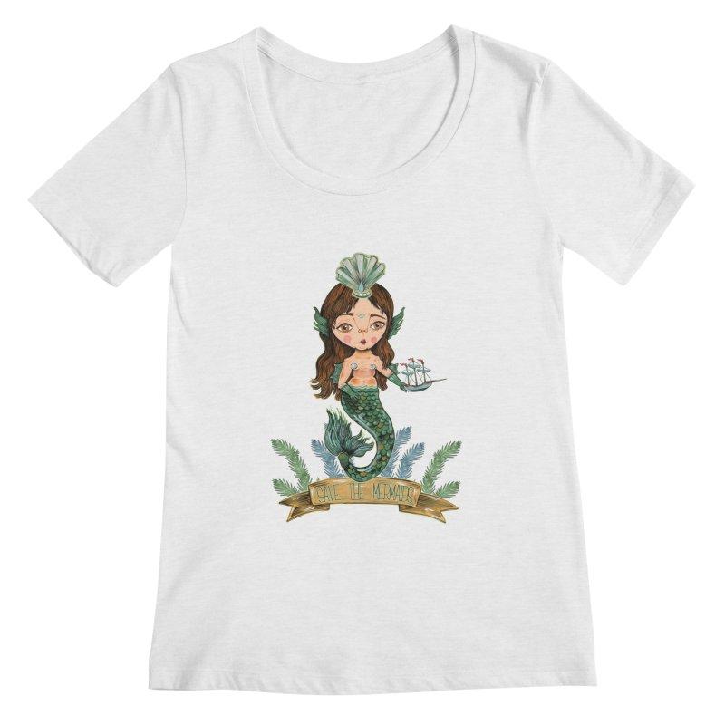 Save the Mermaid Women's Regular Scoop Neck by Valentina Zummo