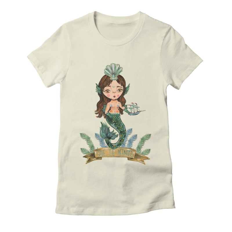 Save the Mermaid Women's T-Shirt by Valentina Zummo