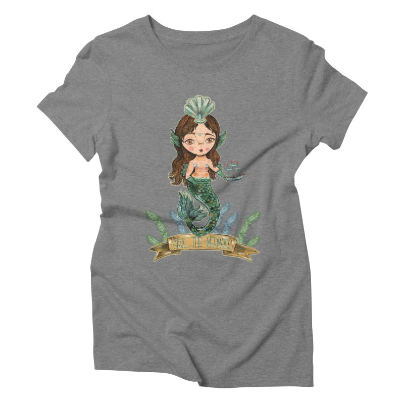 Save the Mermaid Women's Triblend T-Shirt by Valentina Zummo