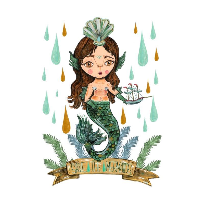 Save the Mermaid Men's T-Shirt by Valentina Zummo