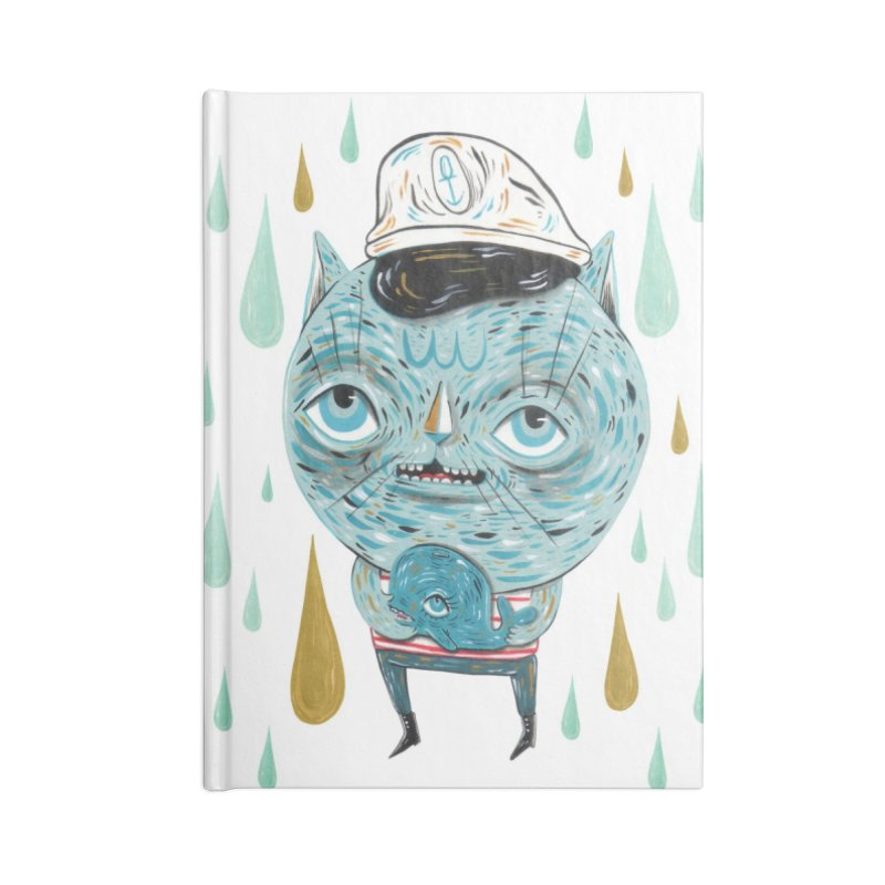 Sea CAt Accessories Lined Journal Notebook by Valentina Zummo