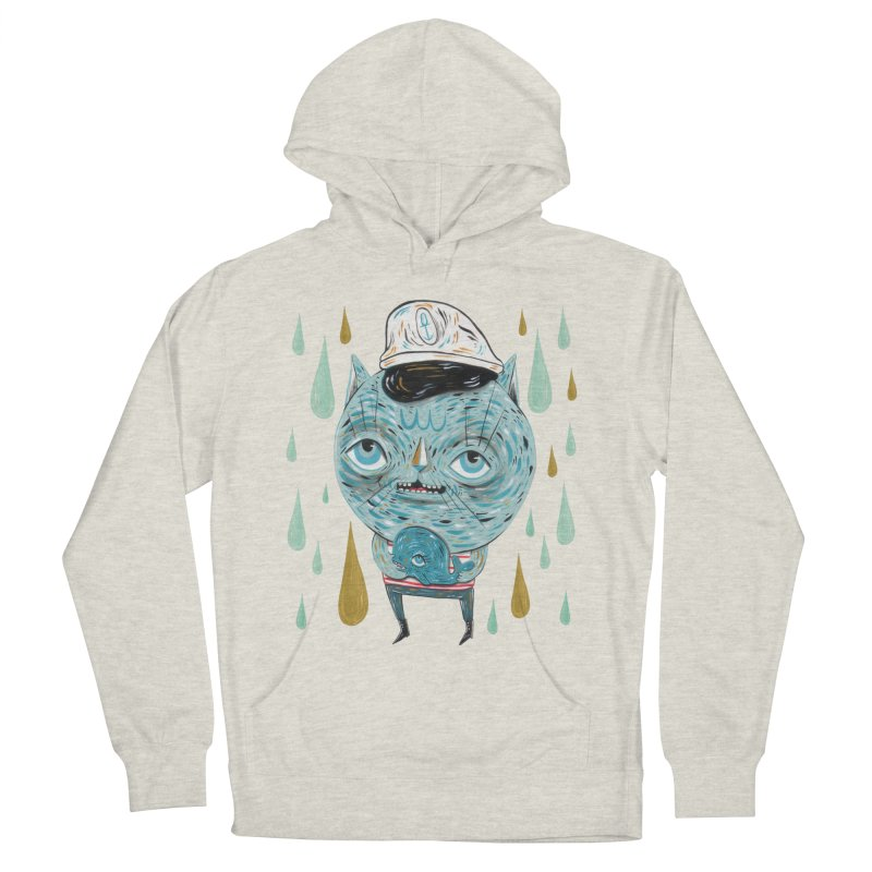 Sea CAt Men's French Terry Pullover Hoody by Valentina Zummo