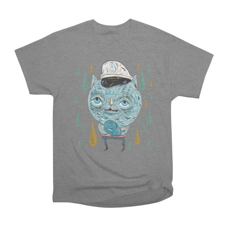Sea CAt Men's Heavyweight T-Shirt by Valentina Zummo