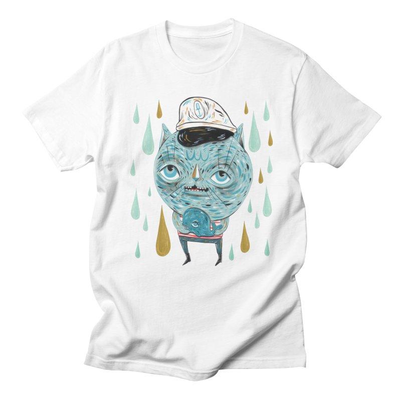 Sea CAt Men's Regular T-Shirt by Valentina Zummo