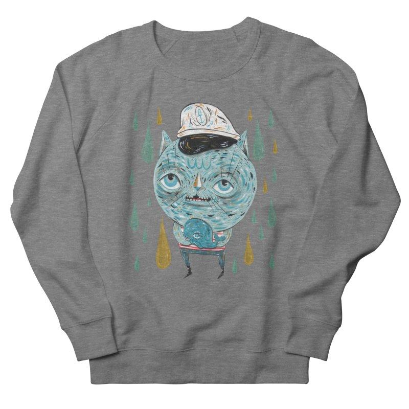 Sea CAt Women's French Terry Sweatshirt by Valentina Zummo
