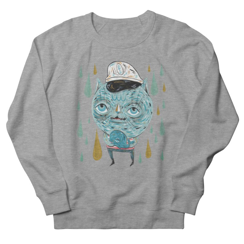 Sea CAt Men's French Terry Sweatshirt by Valentina Zummo