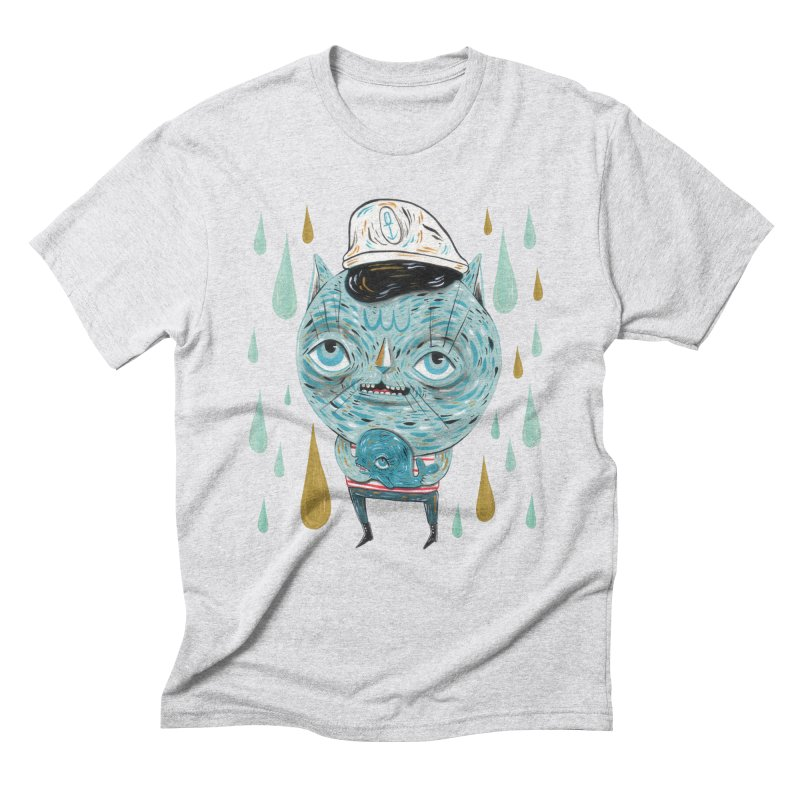Sea CAt Men's Triblend T-Shirt by Valentina Zummo