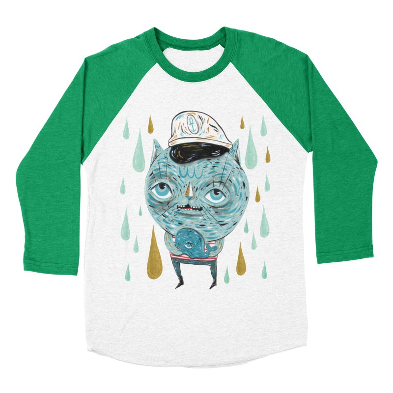 Sea CAt Women's Baseball Triblend Longsleeve T-Shirt by Valentina Zummo