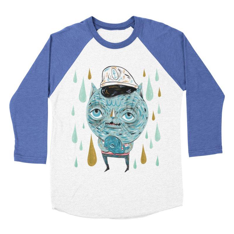 Sea CAt Men's Baseball Triblend Longsleeve T-Shirt by Valentina Zummo