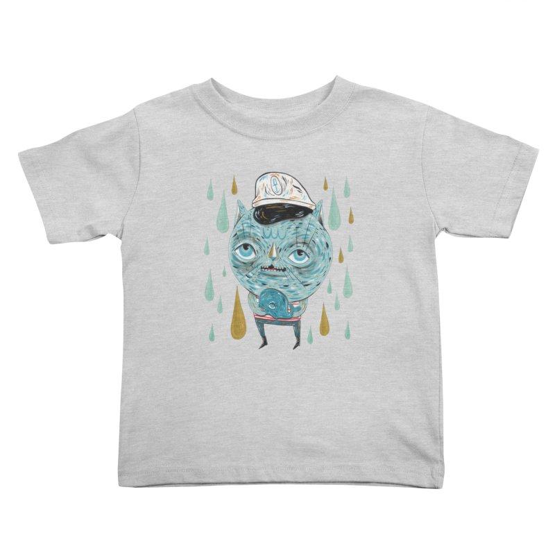 Sea CAt Kids Toddler T-Shirt by Valentina Zummo