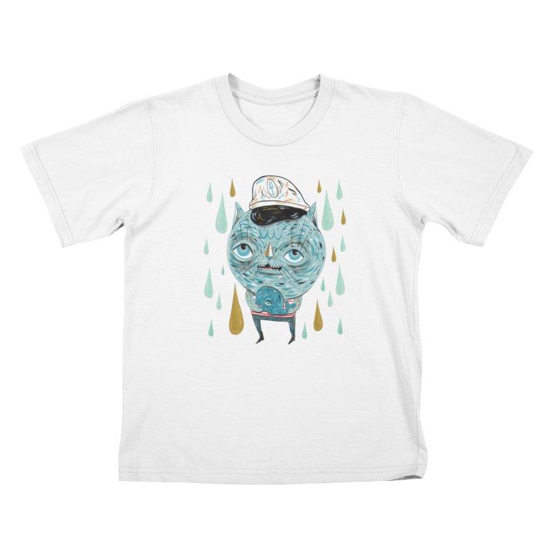 Sea CAt Kids T-Shirt by Valentina Zummo