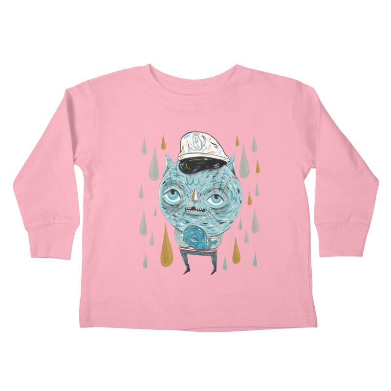 Sea CAt Kids Toddler Longsleeve T-Shirt by Valentina Zummo