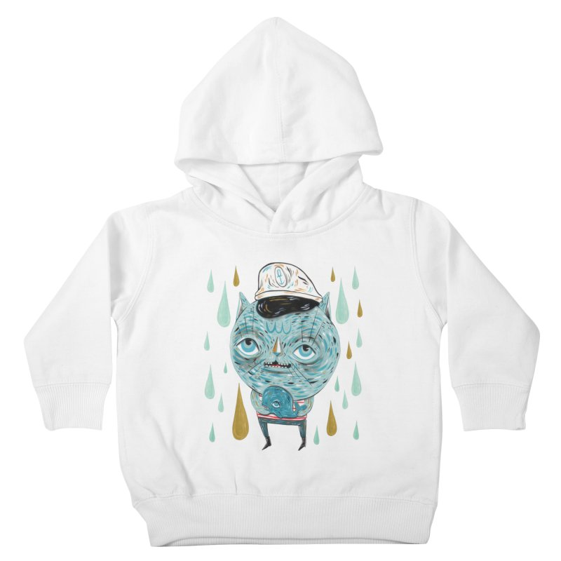Sea CAt Kids Toddler Pullover Hoody by Valentina Zummo