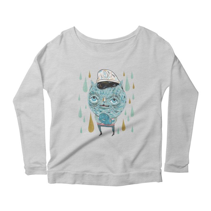 Sea CAt Women's Scoop Neck Longsleeve T-Shirt by Valentina Zummo