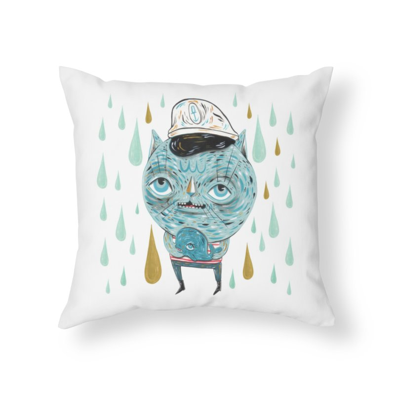 Sea CAt Home Throw Pillow by Valentina Zummo