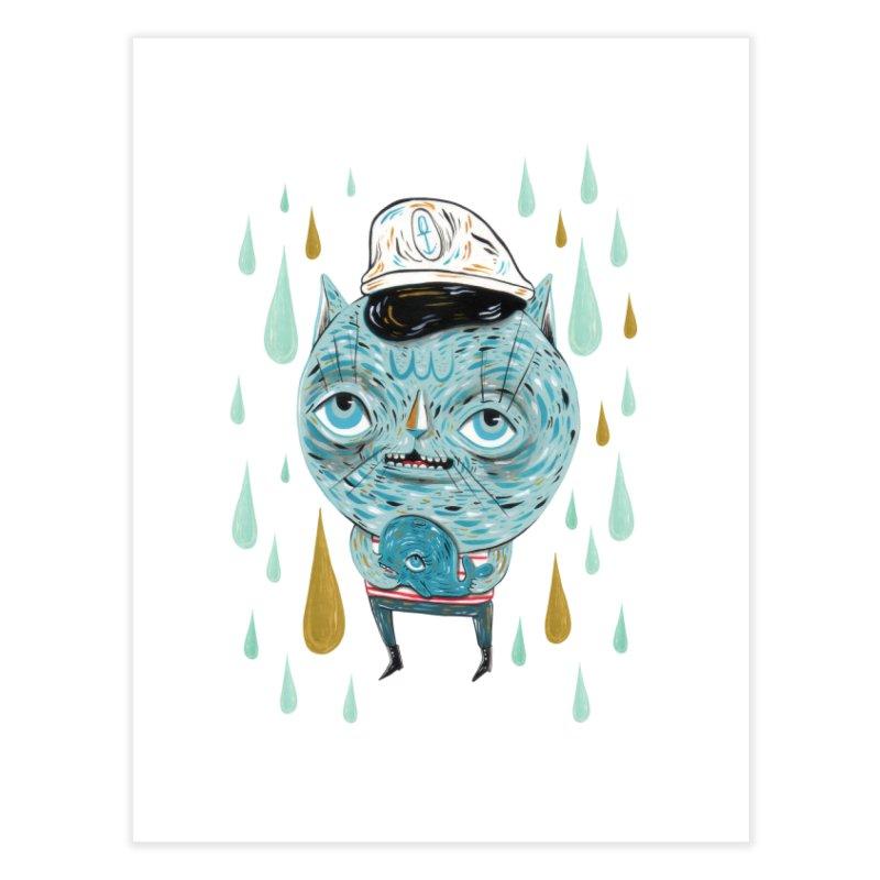 Sea CAt Home Fine Art Print by Valentina Zummo