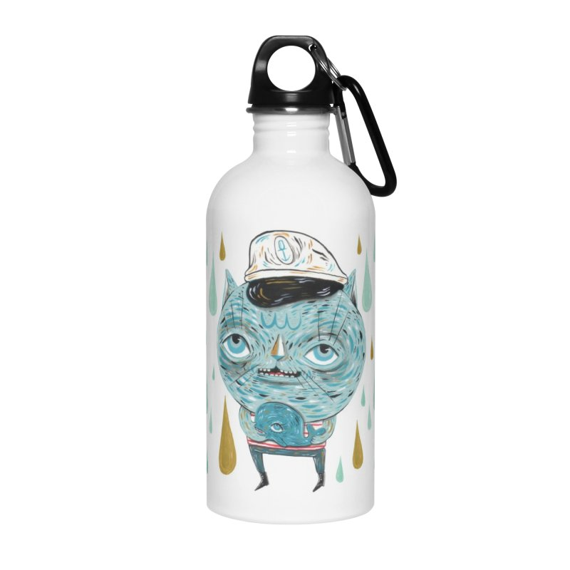 Sea CAt Accessories Water Bottle by Valentina Zummo