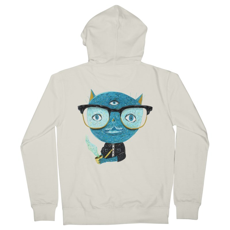 I can see for miles. Women's French Terry Zip-Up Hoody by Valentina Zummo