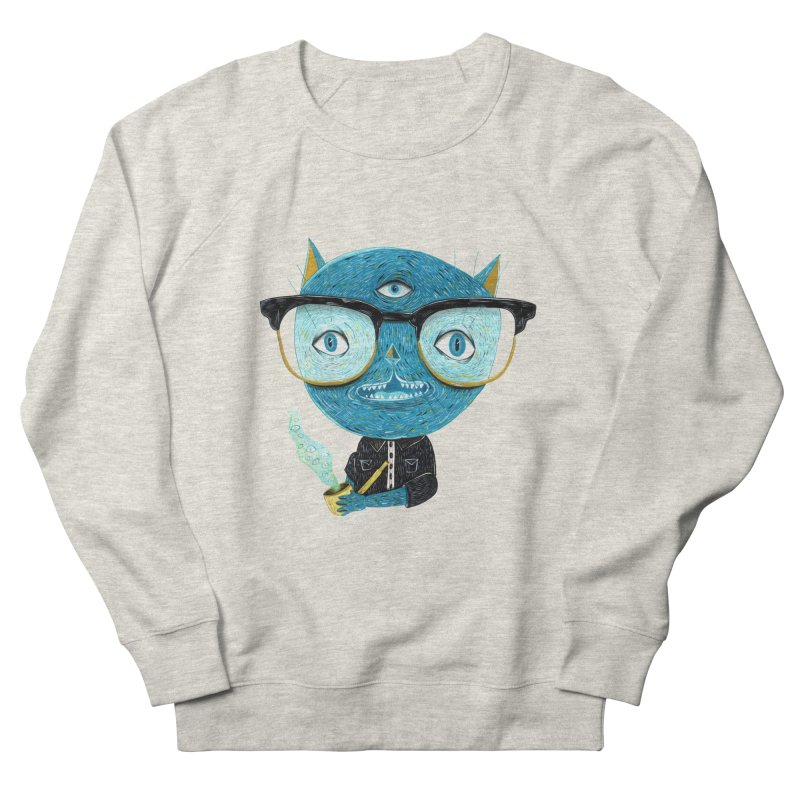 I can see for miles. Men's French Terry Sweatshirt by Valentina Zummo