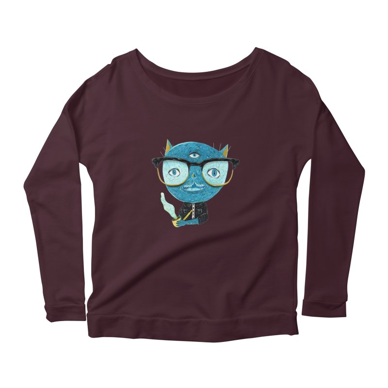 I can see for miles. Women's Scoop Neck Longsleeve T-Shirt by Valentina Zummo