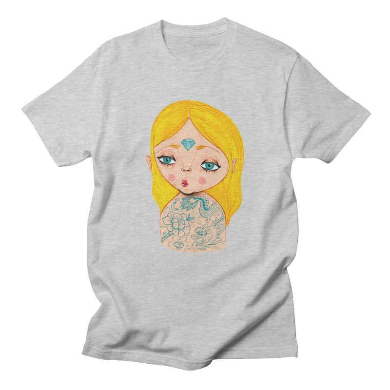 Tattooed girl Women's Regular Unisex T-Shirt by Valentina Zummo