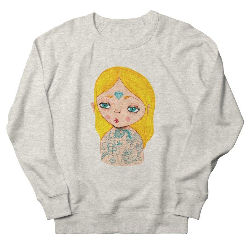 Tattooed girl Women's French Terry Sweatshirt by Valentina Zummo