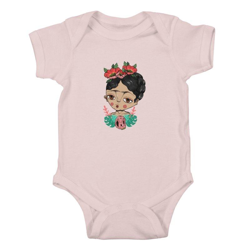 Viva Frida Kids Baby Bodysuit by Valentina Zummo