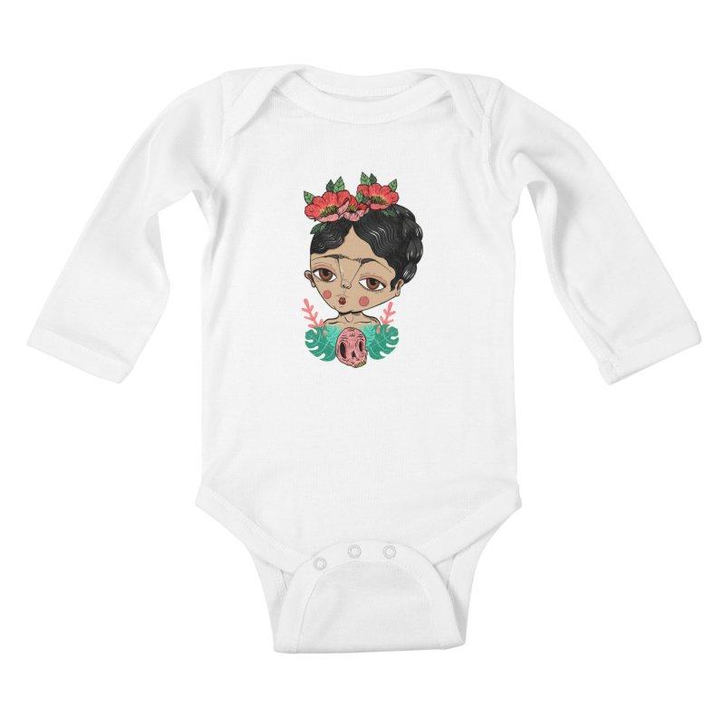 Viva Frida Kids Baby Longsleeve Bodysuit by Valentina Zummo