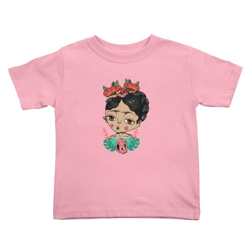 Viva Frida Kids Toddler T-Shirt by Valentina Zummo