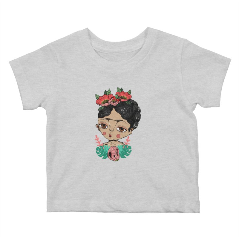 Viva Frida Kids Baby T-Shirt by Valentina Zummo