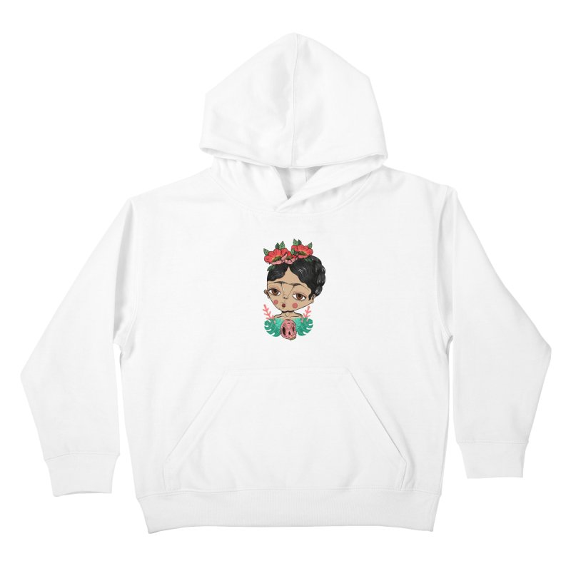 Viva Frida Kids Pullover Hoody by Valentina Zummo