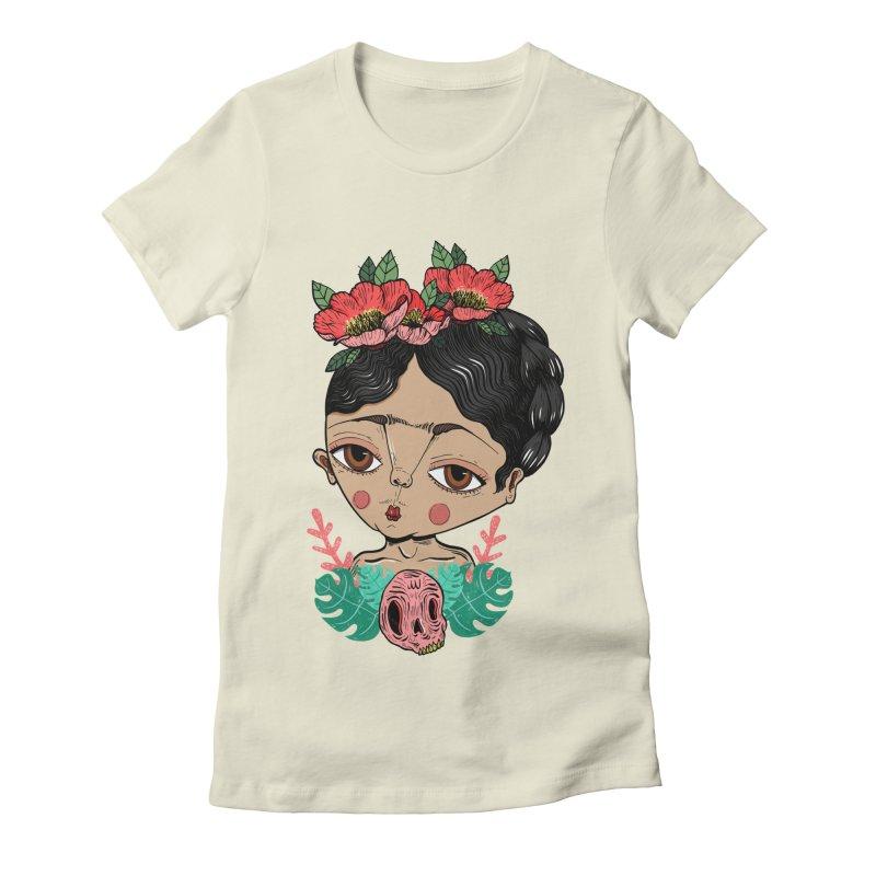 Viva Frida Women's Fitted T-Shirt by Valentina Zummo