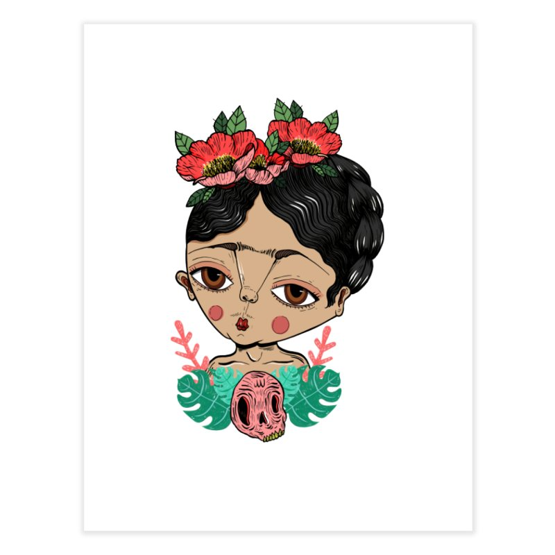 Viva Frida Home Fine Art Print by Valentina Zummo