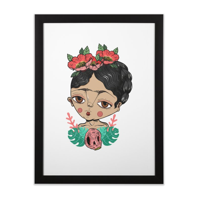 Viva Frida Home Framed Fine Art Print by Valentina Zummo